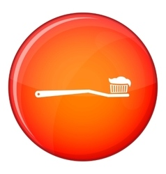 Toothbrush icon flat style vector