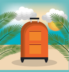 travel bag summer beach vacation vector image