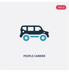 two color people carrier icon from vector image