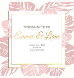 Wedding marriage event invitation border frame vector