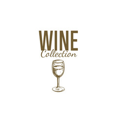 wine shop label cover 2 vector image