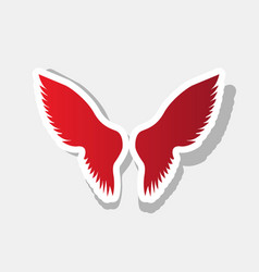 wings sign new year reddish vector image