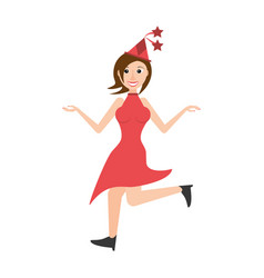 woman celebrating cartoon vector image