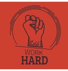 Work hard vector image
