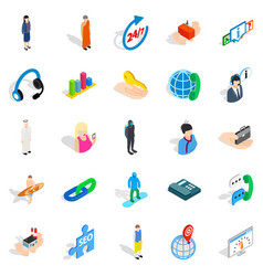 Workforce icons set isometric style vector