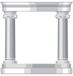 Ionic realistic antique greek temple with columns vector image