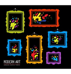 set of color rectangular frames with colo vector image