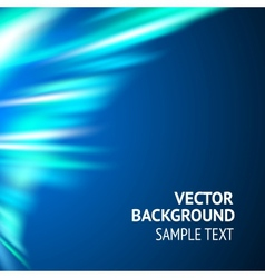 Smooth wave blue design vector image vector image