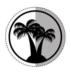 tree palm isolated icon vector image vector image