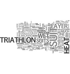 what you must know about triathlon suit text word vector image vector image