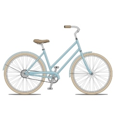 Blue Bike vector image
