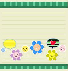 Cute floral card vector