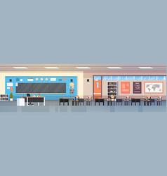 empty classropm interior background school class vector image