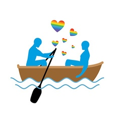 Gays in boat Lovers of sailing Rendezvous blue men vector image vector image