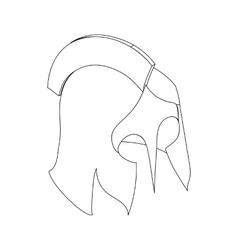 Helmet roman icon isometric 3d vector image