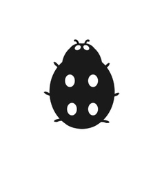 Insect Ladybird Isolated on White Background vector image