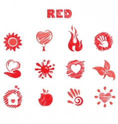 red theme vector image vector image