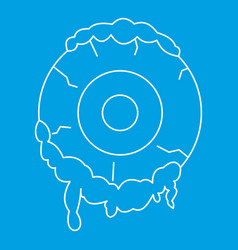 terrible eyeball icon outline style vector image vector image