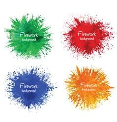Watercolor firework splatter vector image vector image
