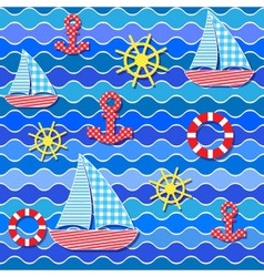 baby seamless sea pattern vector image vector image
