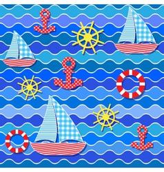 baby seamless sea pattern vector image