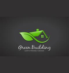 eco friendly green house logo design vector image vector image
