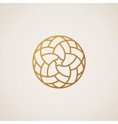 Geometric round Eastern star logo circular vector image vector image