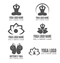 Logo badge label logotype elements with pose vector image
