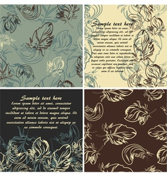 set of cards and seamless patterns vector image vector image