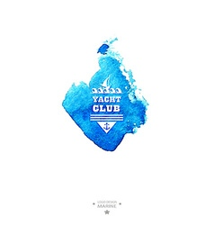 Yacht club logoWatercolor vector image