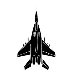 Isolated military airplane vector