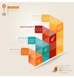 Isometric shape modern style design layout vector image