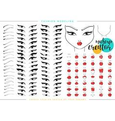 Makeup creator Set for fashion modeling female vector image vector image