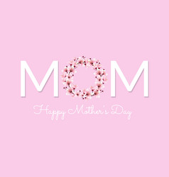 mom happy mother day vector image vector image