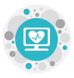 of mixed symbol on cardiogram vector image