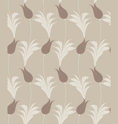 turkish tulip seamless pattern vector image vector image