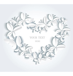 Abstract romantic background with butterflies vector image