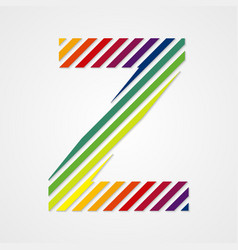 Alphabet letter z vector