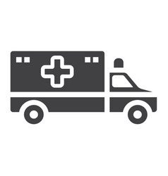 ambulance glyph icon medicine and healthcare vector image