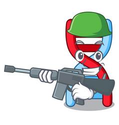 Army dna molecule character cartoon vector
