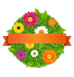 Ball With Flowers vector