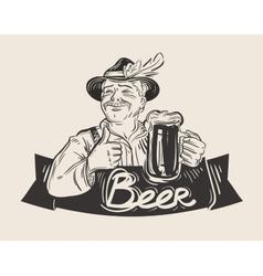 Beer ale logo design template Oktoberfest vector image