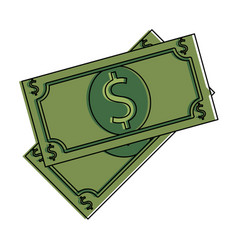 bills dollars isolated icon vector image
