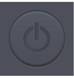 black power button switch on and off vector image