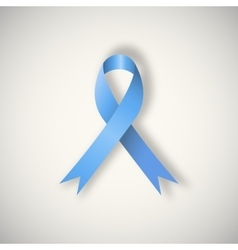 Blue awareness ribbonribbon vector image
