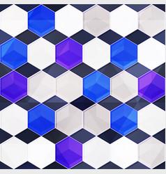 blue glass mosaic seamless texture vector image