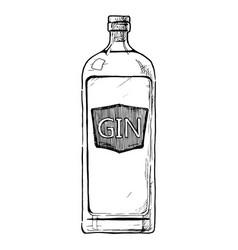 Bottles alcohol distilled beverage vector