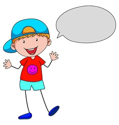 Boy talking vector image