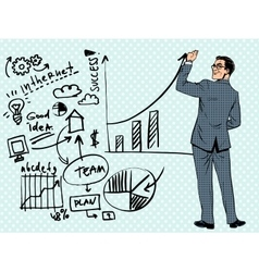 Businessman drawing business concept of success vector