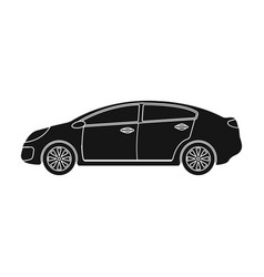 car single icon in black style for designcar vector image